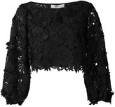 Milly embroidered blouse - women - Silk/Nylon/Polyester - 2