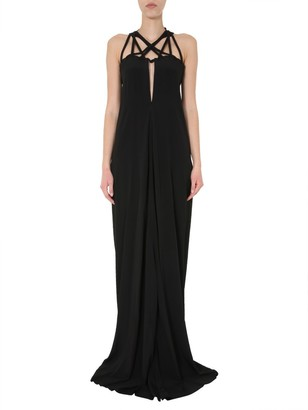 Rick Owens Braided Neckline Maxi Dress