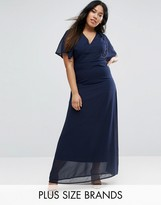 Club L Plus Maxi Dress With Cape Back