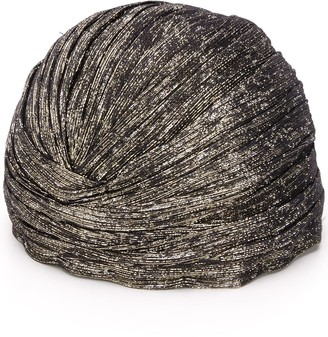 Saint Laurent Lame Knotted Turban