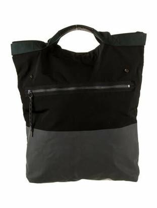 Lanvin Bicolor Fold-Over Bag Black