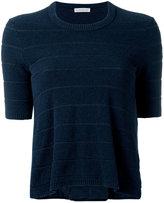 Moncler bi-material textured T-shirt - women - Cotton/Polyamide/Polyester - XS
