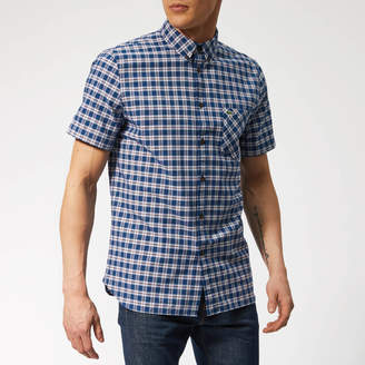 Lacoste Men's Oxford Check Short Sleeve Shirt
