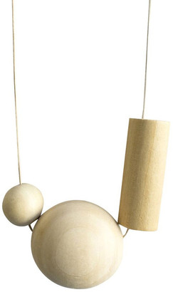 Keegan Zero Waste Necklace 0.2 - Wood Natural