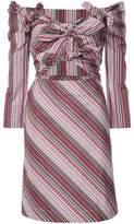 Isa Arfen off-the-shoulder striped dress