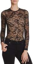 Olivaceous Lace Long-Sleeve Bodysuit
