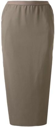 Rick Owens Wrap Midi Skirt