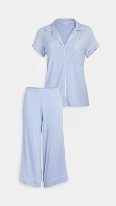 Eberjey Gisele Short Sleeve Crop PJ Set