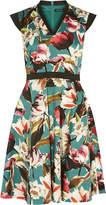 Karen Millen Floral Cotton Skater Dress
