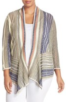 Nic+Zoe Plus Size Women's 'Golden Coast' Drape Front Cardigan
