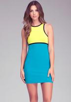 Bebe Colorblock Racerback Dress