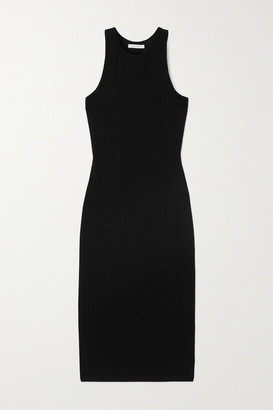 Ninety Percent Net Sustain Stretch-tencel Dress - Black