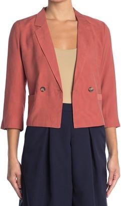 FRNCH Solid 3/4 Sleeve Blazer Jacket
