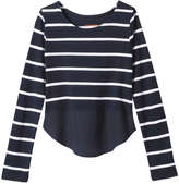 Joe Fresh Kid Girls' Peplum Top, JF Midnight Blue (Size S)