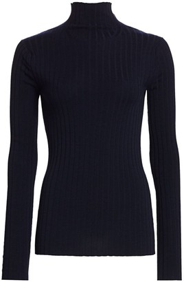 The Row Bottani Merino Wool & Cashmere Ribbed Mockneck