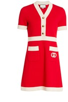 Gucci Fine Wool Stitch Pocket Dress
