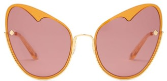 Moy Atelier - Naked Heart Cat-eye Gold-plated Sunglasses - Gold