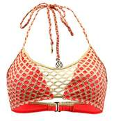 Luli Fama Coral And Gold Bra Swimsuit Starfish Wishes.