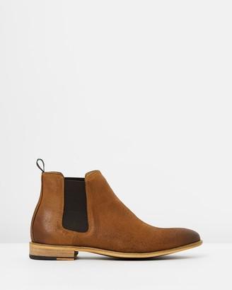 Double Oak Mills Harrison Oiled Suede Gusset Boots