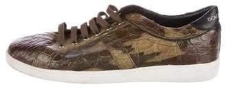 Dolce & Gabbana Crocodile Camouflage Sneakers