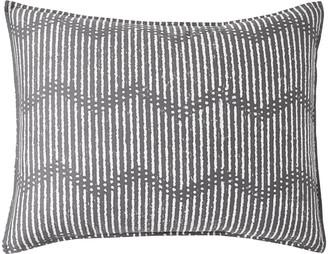 DKNY Dot Chevron Standard Pillowcase - Grey