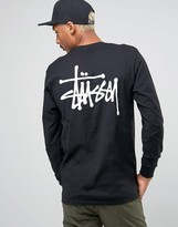 Stussy Long Sleeve T-Shirt With Back Logo