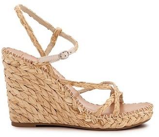 Dolce Vita Nadine Raffia Platform Wedge Sandals