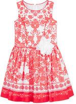 Bonnie Jean Floral-Print Poplin Dress, Big Girls (7-16)