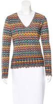 M Missoni Metallic Geometric Patterned Sweater