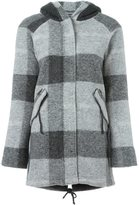 Woolrich checked hooded coat