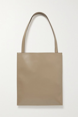 The Row Flat Leather Tote - Sand