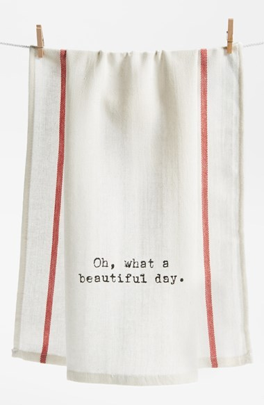 Second Nature By Hand 'Oh What a Beautiful Day' Towel