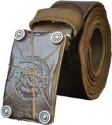 QISHI YUHUA PD Mens Classic Retro Fashion Soft Leather Belts(,L)
