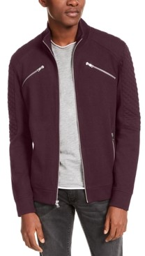 INC International Concepts Inc Men's Ribbed Quilted-Sleeve Jacket, Created for Macy's