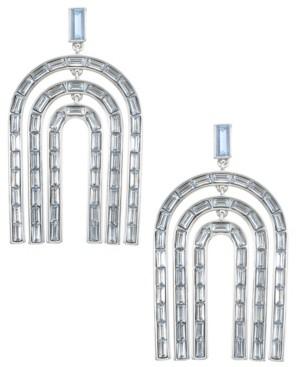 Trifari Silver-Tone Chandelier Earrings