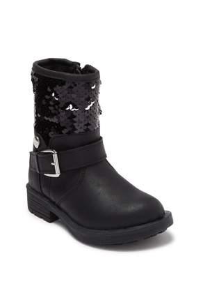Nicole Miller Sequin Buckle Boot (Toddler)