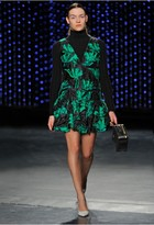 Milly Couture Floral Fil Coupe Dropwaist Dress