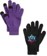 London Fog 2-Pk. Snowflake & Texting Gloves, Big Girls (7-16)