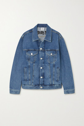 Vetements Embroidered Denim Jacket - Blue