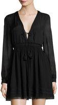 Calypso St. Barth Tissa Smocked-Waist Dress, Black