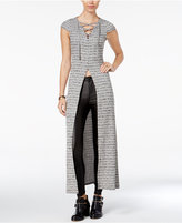 Material Girl Juniors' Lace-Up Knit Maxi Top, Only at Macy's