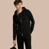 Burberry Hooded Cotton Jersey Top , Size: L, Black