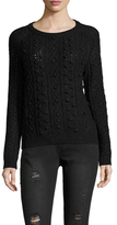 White + Warren Aran Cable Crewneck Sweater