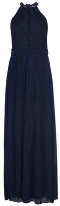 TFNC lace top halter neck maxi dress