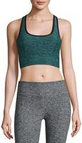 Beyond Yoga Lightweight Crossover Sports Bra, Black Arctic Teal