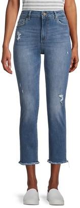 DL1961 HIgh-Rise Fringe Jeans