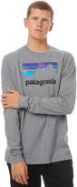 Patagonia Ls Shop Sticker Mens Tee Grey