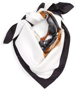 Moschino 'Bear' Square Silk Scarf