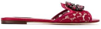 Dolce & Gabbana Bianca flat slides