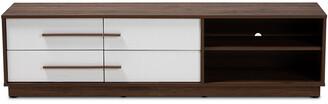 Design Studios Mette Mid-Century Modern 4-Drawer Wood Tv Stand